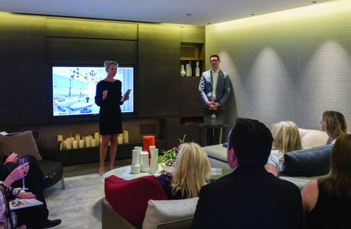 Light, colour and technology collide at Crestron showroom