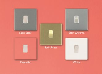 Bring PANTONE Living Coral to life with Hamilton's 'satin' metallic wiring accessories