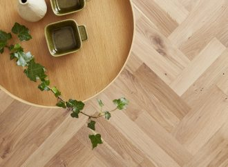 Pre-finished parquet Twin Herringbone from Junckers saves time