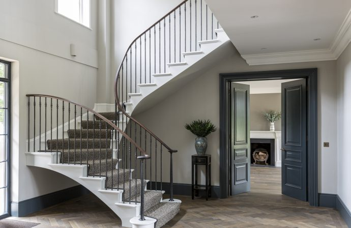 Contemporary and elegant Georgian inspired staircase
