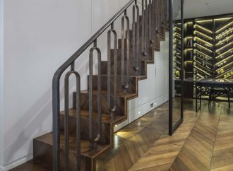 Chevron staircase treatment from Bisca