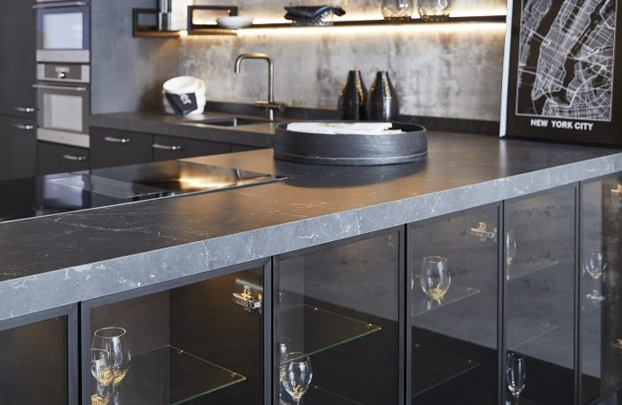 Keller Kitchens embraces the sophisticated and stylish matt black trend