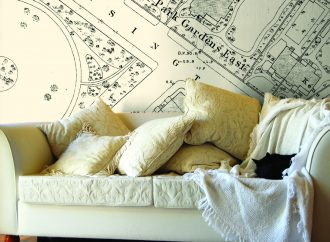 Unique feature wall art from Love Maps On!