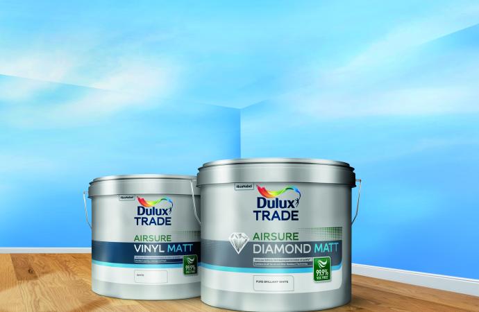 Dulux Trade introduces 99.9% VOC-free1 Airsure range